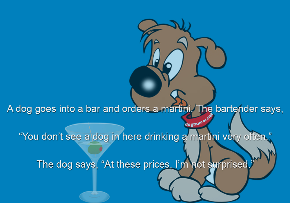 A Dog Goes Into a Bar - Dog humor