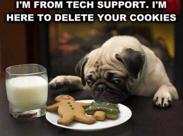 I'm From Tech Support - Dog humor