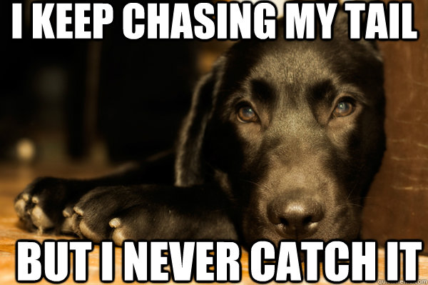 I Keep Chasing My Tail - Dog humor